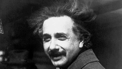 picture of young einstein
